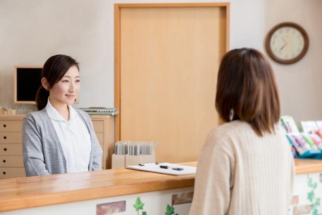 個人病院の仕事内容の受付対応